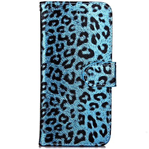 Custodia iPhone 6S 4.7 Cover iPhone 6 4.7,Ukayfe Stitching Colore Flip Case Cover per iPhone 6S 4.7,iPhone 6/6S Lussuosa Astuccio Custodia Cover [PU Leather] [Shock-Absorption] Protettiva Portafoglio  Blu