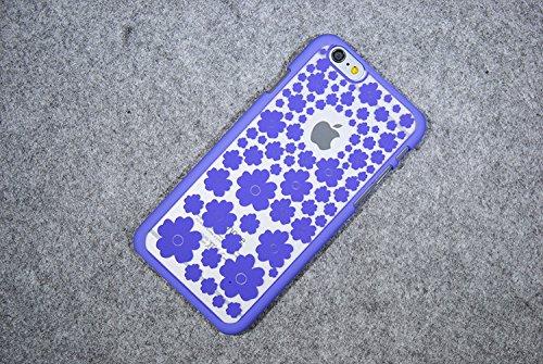Coque iPhone 6 Plus/6s Plus , iNenk® La nouvelle Palace rétro fleur mat dur PC Shell Scrub manchon de protection en mode créatif marée affaire couverture pour femmes-rouge Bleu