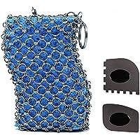 Limpiador de hierro fundido con esponja, superficie antiarañazos mejorada, acero inoxidable para chinchetas de