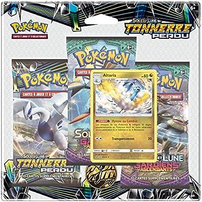 Pokémon- Soleil et Lune-Tonnerre Perdu (SL08) -Pack 3 boosters (modèle aléatoire), 3PACK01SL08
