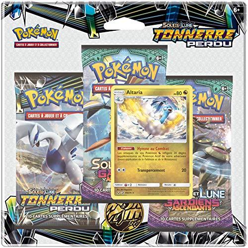 Pokemon Soleil et Lune-Tonnerre Perdu (SL08) -Pack 3 boosters (modèle aléatoire), 3PACK01SL08