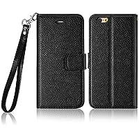 tinxi® premium PU Kunstleder Tasche Schutzhülle für Apple Iphone 6 6s(4,7 Zoll) Schutz Hülle Wallet Rückschale Etui Case Kartenfächer Cover mit Lanyard und Standfunktion in schwarz