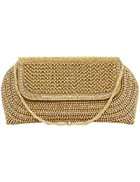 Bagaholics Ethnic Beads & Pearl Clutch Ladies Purse Clutches Gift For Women