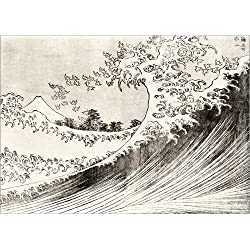 Póster 70 x 50 cm: The Great Wave Off Kanagawa de Katsushika Hokusai - impresión artística póster artístico