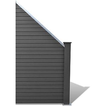 Vidaxl Wpc Gartenzaun Element Sichtschutzzaun Windschutz Zaun