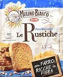 Mulino Bianco - Fette Biscottate Le Rustiche, con Farro, Ricche in Fibra - 4 confezioni da 315 g [1260 g, 128 fette]