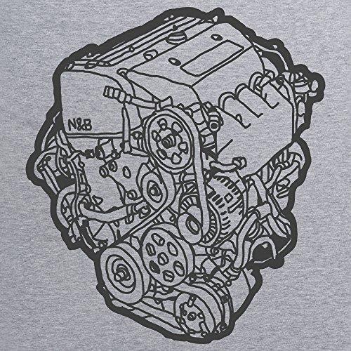 Nut & Bolt - EP3 Engine Clear Felpa girocollo, Uomo Grigio mlange