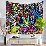 HANSHI tropischer Wandteppich Palm Natürliche Landschaft zu Hause genießen Wandtuch Wandbehang Wand Dekoration Tischde