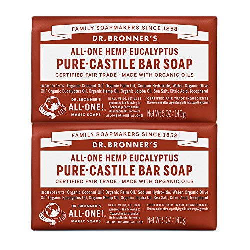 Dr. Bronners Bar Eucalyptus 5oz. Soap (2 Pack) by Dr. Bronner's -