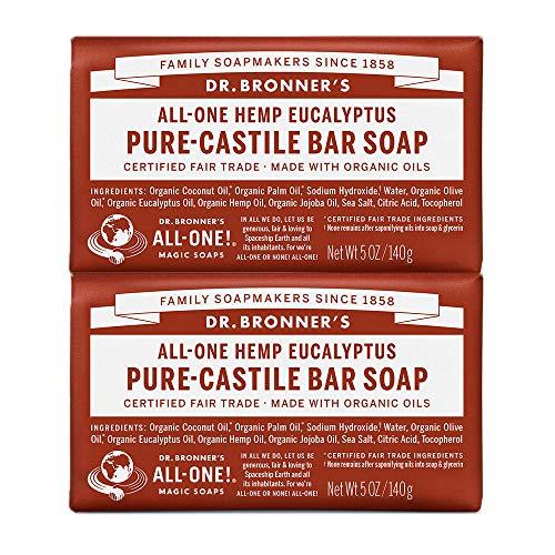 Dr. Bronners Bar Eucalyptus 5oz. Soap (2 Pack) by Dr. Bronner's -