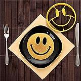 Dealglad® Cute Smiley Face con forma de huevo mold anillo Pancake anillo molde antiadherente Tortilla molde herramienta de cocina