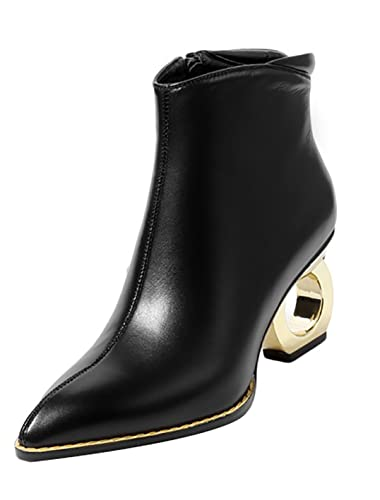 Womens vbn11 Pointed-Toe 7.5CM Zipper Boots Shoes