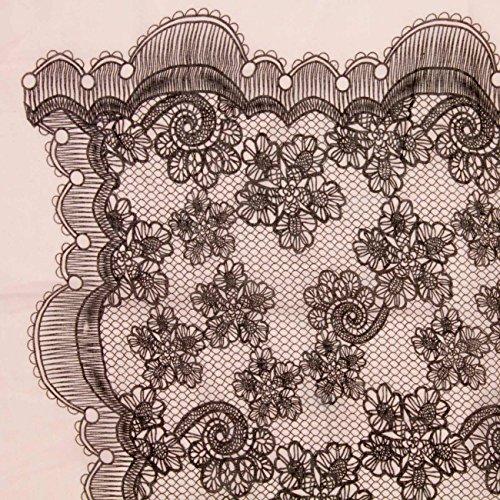 CASPAR - Echarpe légère pour femme - châle aérien - motif oriental - effet dentelle - plusieurs coloris - SC424 Rose