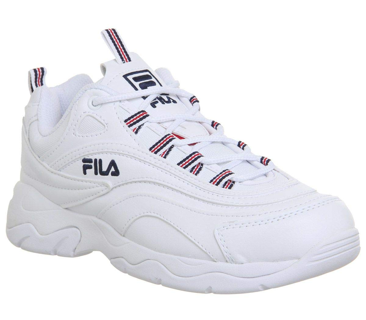 Fila Ray Damen Weiß/Marine/Rot Sneakers-UK 8 / EU 41