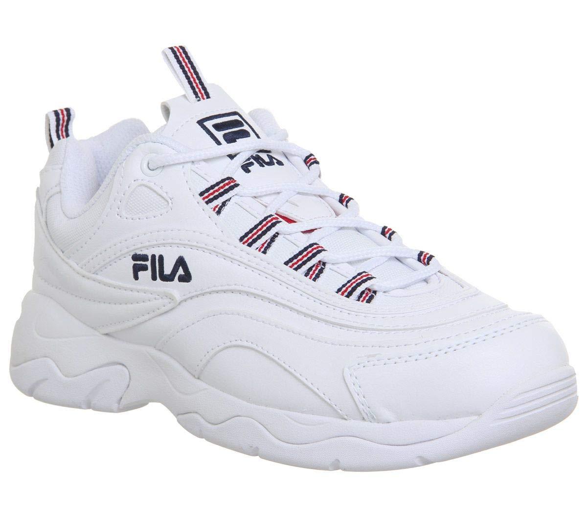 Fila Ray Damen Weiß/Marine/Rot Sneakers-UK 8 / EU 41