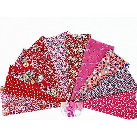 [Pack de 10] KAMIERFA, telas de algodón precortadas para Patchwork, 20* 30cm