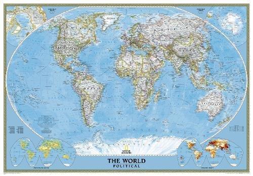 World Pol Class Plas 178x125 : Poster par  National Geographic Maps