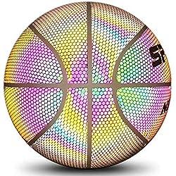 Basket-ball réfléchissant brillant holographique, allume la lueur dans les ballons de basket-ball foncés, jouet parfait intérieur extérieur pour jeu de nuit, jouets cadeaux pour enfants et garçons