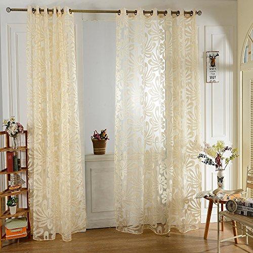 100 x 250cm stampato giallo di tulle tende alle finestre arredamento di casa moda per camera da letto