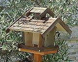 BTV bel-x-vovil4-at002Gerätehaus Vogel (mit Box für Nido, witterungsbeständigem, 100% Holz, mit Futterstelle), türkis und Natur