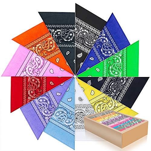PITAYA Pañuelos Bandanas de Modelo de Paisley para Cuello/Cabeza...