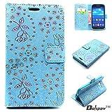 Dokpav® Samsung GALAXY Grand Neo Plus I9060 funda, tirón Thin PU cubierta de cuero ultra delgado Con Interior Slip bolsillos para tarjetas -Azul oscuro