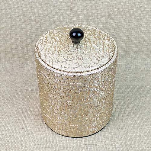 Hfienfh Eiskübel Mit Deckel  Kühler für Champagner Wein oder Bier  Vintage Retro Style Metall Innen mit Kunststoff außen beliebig platziert -