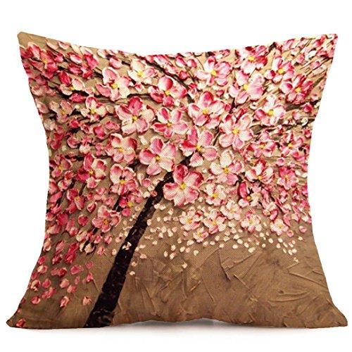Hunpta Home Auto Bett Sofa Vintage dekorative süße Eule Fall Kissen Kissenbezug (D) -