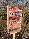 Large Insect Hotel with Feeder and Wood Bark...