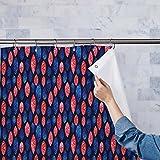 AZ Spots & Waves Washable Waterproof Shower Curtain 54 x 72inch; SINGLE PIECE