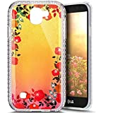 Paillette Coque pour LG K3 2017,LG K3 2017 Coque en Silicone Glitter, LG K3 2017 Silicone Coque fleurs de cerisier roses Housse Transparent Etui Gel Slim Case Soft Gel Cover, Ukayfe Etui de Protection Cas en caoutchouc en Ultra Slim Paillette Bling Diamant Strass Brillante Coque Souple Cristal Clair Gel TPU Bumper Cas Case Cover Coque Couverture Etui pour LG K3 2017