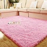"Weimanshop Soft Anti-skid Carpet Floor Mat Shaggy Rug Living Room Bedroom Decor 7 Colors 31.5"" x 47"" Pink"