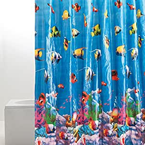 Tropical Fish Shower Curtain Amazoncouk Kitchen Amp Home