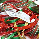 Ribbon off cut bundle - Xmas Theme - contains 10 different 1 metre ribbons