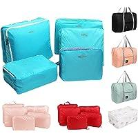 YIWAWQIAN 5Pcs Sacs de Rangement de VêTements ImperméAbles Emballage Sac D'Organisateur de Bagages de Voyage - 5Pc