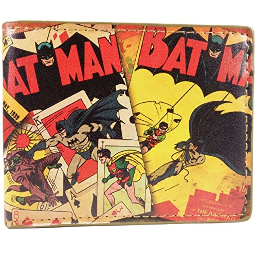 Cartera de DC Comics Batman Estilo de dibujos animados Amarillo