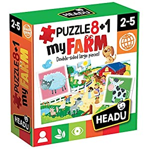 Headu Headu-IT20867 1041741-My Farm-Juego Puzzle Infantil Educativo Mundo Animal, Multicolor (IT20867)