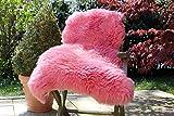 Alpenfell Schaffell Lammfell Rosa - 120-130cm echtes Fell - Premium Qualität