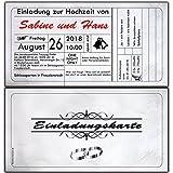 Einladungskarten Hochzeit Eintrittskarte Hochzeitseinladung Einladung Vintage Ticket - 40 Stück