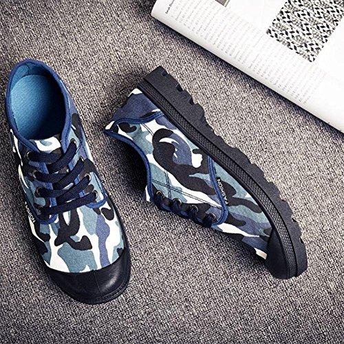 Scarpe da uomo scarpe varie in paglia scarpe traspiranti scarpe di tela scarpe di canapa Navy