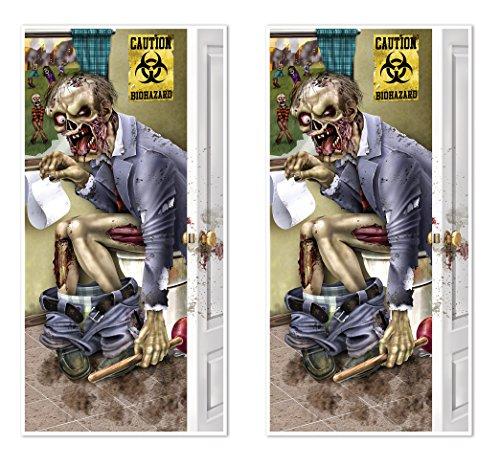 Stück Zombie WC Tür Bezüge, 76,2cm X 5' (Scary Halloween Mit Outdoor Dekorationen)