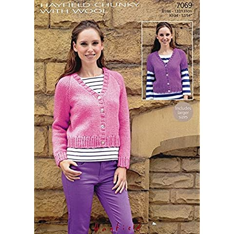 Sirdar (Hayfield) Chunky con lana Donna Cardigan 7069