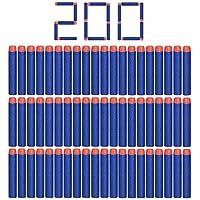 "Camkey 200pcs Foam Darts, 2.84"" Round Head Refill Soft Bullets Darts for Nerf N-strike Elite Series Blasters and other Kid Toy Guns( Blue)"