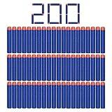Camkey 200pcs Fléchettes en mousse, 7,2cm Tête ronde recharge doux Balles Fléchettes pour Nerf N-Strike Elite Series Blasters et autres Kid Toy Guns (Bleu)