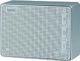 Imperial 22-9047-00 Bas 2 mobiler Wireless Lautsprecher (Bluetooth 4.2 für Apple und Android Smartphones,Tablet und MP3 Geräte, microSD-Kartenleser) Weiss-Silber