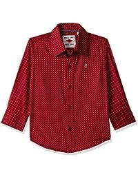 Gini & Jony Boys' Plain Regular Fit Shirt
