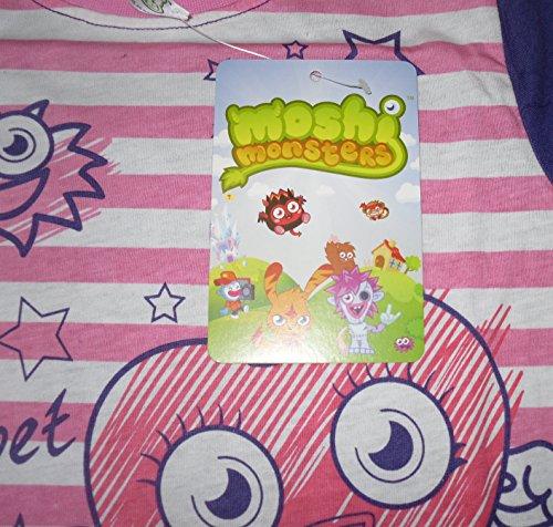 Image of Girls Pyjamas Nightwear Moshi Monsters Long 5 6 7 8 9 10 11 & 12 Years Old (8-9 years)