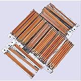 Lanlan 5Sets von 15Größen 20,3cm (20cm) Strumpfstricknadel-verkohlten Bambus Stricken Kits Nadeln Set (nadeldicke–10,0mm)