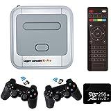 Amrita Console de Jeu vidéo Super Console X Console de Jeu rétro avec 256 Cartes intégrées 50000+ Jeux, Consoles de Jeu Class