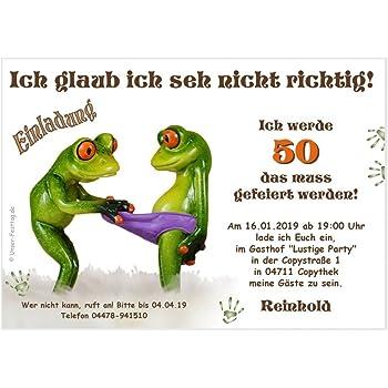 Einladungen Zum Geburtstag Nur 50ster Funfzig Jahre Mit Foto